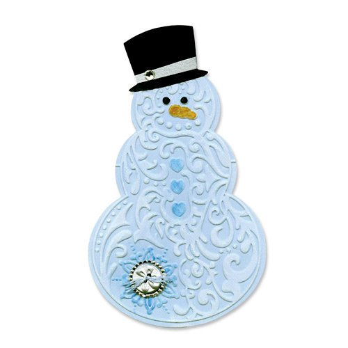 Sizzix Bigz Die Die Cutting Template with Embossing Folder Snowman and Hat