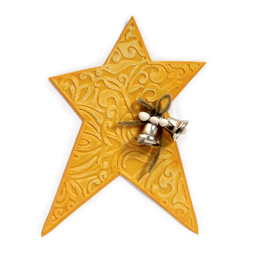 Sizzix - Bigz Die and Embossing Folder - Star, Primitive 2