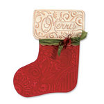 Sizzix - Bigz Die - Christmas - Die Cutting Template with Embossing Folder - Stocking