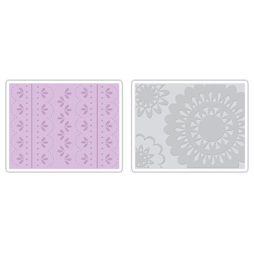 Sizzix - Textured Impressions - It's a Wrap Collection - Embossing Folders - Lace Set