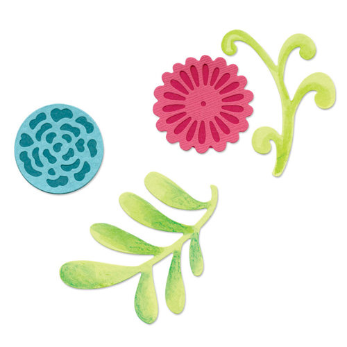 Sizzix - Sizzlits Die - Decorative Accents Collection - Die Cutting Template - Medium - Flower Set 5