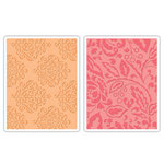 Sizzix - Textured Impressions - Decorative Accents Collection - Embossing Folders - Curly Gate and Berry Splash Set