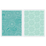 Sizzix - Textured Impressions - Decorative Accents Collection - Embossing Folders - Daisy Blast and Paisley Palooza Set