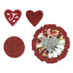 Sizzix - Sizzlits Die - Vintage Valentine Collection - Die Cutting Template - Medium - Accordion Fold Flowers Set 2