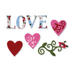 Sizzix - Sizzlits Die - Vintage Valentine Collection - Die Cutting Template - Medium - Love Set 3