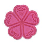 Sizzix - Vintage Valentine Collection - Embosslits Die - Small - Flower, Old Country Bloom