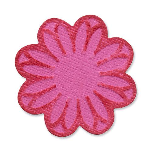 Sizzix - Vintage Valentine Collection - Embosslits Die - Small - Flower, Wildflower 2