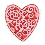 Sizzix - Vintage Valentine Collection - Embosslits Die - Small - Heart, English Rose