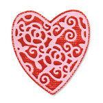 Sizzix - Embosslits Die - Vintage Valentine Collection - Die Cutting Template - Small - Heart, English Rose