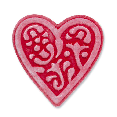 Sizzix - Embosslits Die - Vintage Valentine Collection - Die Cutting Template - Small - Heart, Lace