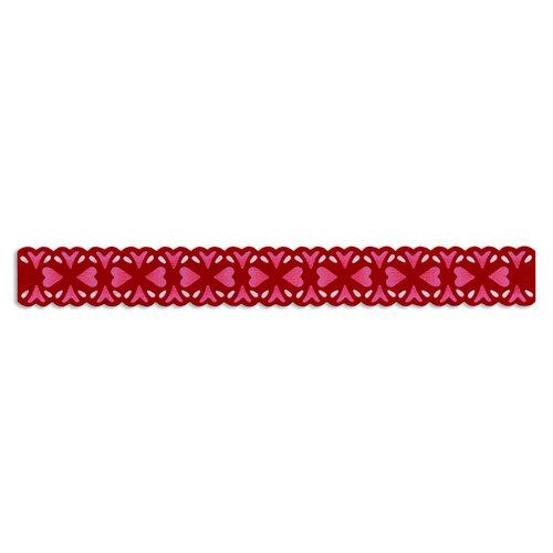 Sizzix - Vintage Valentine Collection - Sizzlits Decorative Strip Die - Floral Hearts