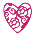 Sizzix - Vintage Valentine Collection - Sizzlits Die - Large - Heart, Lace