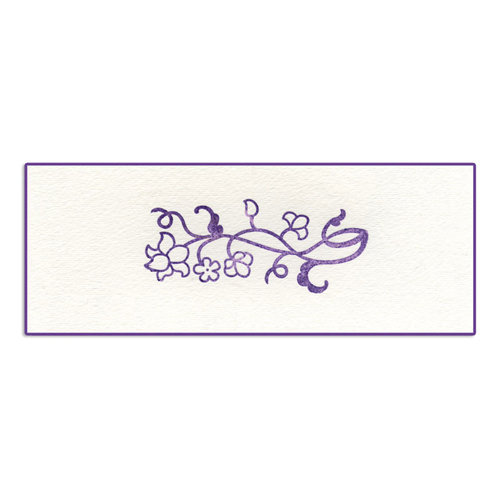 Sizzix - Ink-Its Collection - Letterpress Plate - Flower Vine