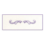 Sizzix - Ink-Its Collection - Letterpress Plate - Festive Swirls