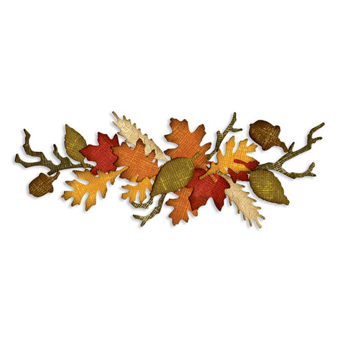 Sizzix - Tim Holtz - Alterations Collection - Sizzlits Decorative Strip Die - Autumn Gatherings