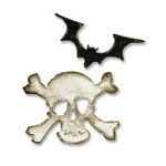 Sizzix - Tim Holtz - Movers and Shapers Die - Alterations Collection - Die Cutting Template - Mini Bat and Skull Set
