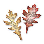 Sizzix - Tim Holtz - Movers and Shapers Die - Alterations Collection - Die Cutting Template - Mini Tattered Leaves Set
