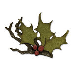 Sizzix - Tim Holtz - Bigz Die - Alterations Collection - Christmas - Die Cutting Template - Holly Branch