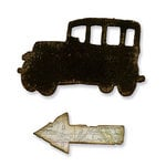 Sizzix - Tim Holtz - Movers and Shapers Die - Alterations Collection - Die Cutting Template - Mini Old Jalopy and Arrow Set