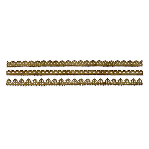 Sizzix - Tim Holtz - Alterations Collection - Sizzlits Decorative Strip Die - Vintage Lace