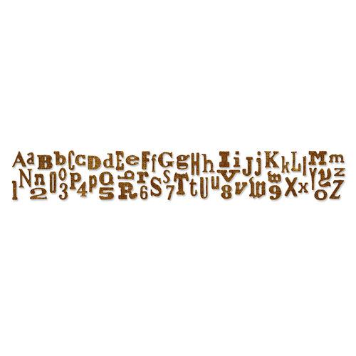 Sizzix - Tim Holtz - Alterations Collection - Sizzlits Decorative Strip Die - Alphabetical