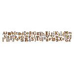 Sizzix - Tim Holtz - Alterations Collection - Decorative Strip Die - Alphabetical Sizzlits