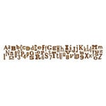 Sizzix Tim Holtz Alphabetical Sizzlits Decorative Strip Die