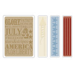 Sizzix - Tim Holtz - Texture Fades - Alterations Collection - Embossing Folders - Americana Background and Borders Set