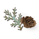 Sizzix - Tim Holtz - Bigz Die - Alterations Collection - Die Cutting Template - Tattered Pinecone