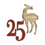 Sizzix - Tim Holtz - Movers and Shapers Die - Alterations Collection - Christmas - Die Cutting Template - Mini Reindeer and 25 Set