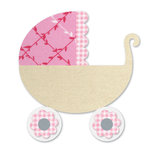 Sizzix - Bigz L Die - Quilting - Applique - Baby Carriage