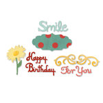 Sizzix - Greetings Collection - Sizzlits Die - Medium - Card Phrases Set 3