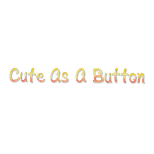 Sizzix - Greetings Collection - Sizzlits Decorative Strip Die - Cute as a Button