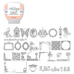 Sizzix - EClips - Electronic Shape Cutting System - Cartridge - Decorative Doodles Shapes and Alphabet