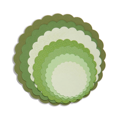 Sizzix Scallop Circles Framelits Die Cutting Template