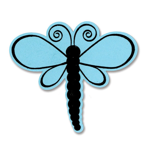 Sizzix - Framelits Die and Clear Acrylic Stamp Set - Dragonflies