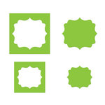 Sizzix - Movers and Shapers Die - Die Cutting Template - Fancy Labels Set