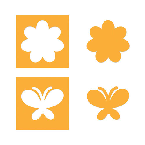 Sizzix - Movers and Shapers Die - Flower and Butterfly Set