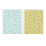Sizzix - Textured Impression - Embossing Folders - Butterflies and Flowers Set