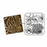 Sizzix - DecoEmboss Die - Vintaj - Embossing Folders - Dragonfly Pond