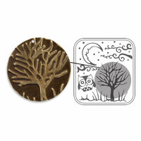 Sizzix - DecoEmboss Die - Vintaj - Embossing Folders - Moonlit Night