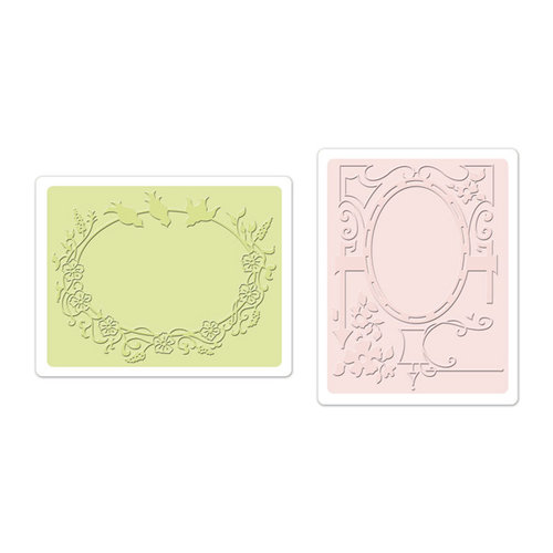 Sizzix - Textured Impressions - Embossing Folders - Birds and Garden Gate Set