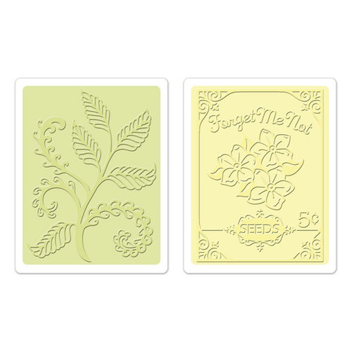 Sizzix - Textured Impressions - Embossing Folders - Ferns and Seed Packet Set