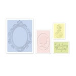 Sizzix - Textured Impressions - Embossing Folders - Loving Thoughts Set