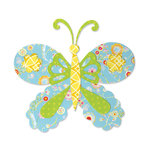 Sizzix - Bigz Die - Happy Baby Collection - Die Cutting Template - Butterfly 3