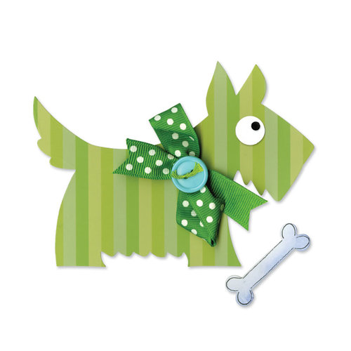 Sizzix - Happy Baby Collection - Bigz Die - Dog, Scotty with Bone