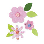 Sizzix - Bigz Die - Happy Baby Collection - Die Cutting Template - Flower Layers and Leaves