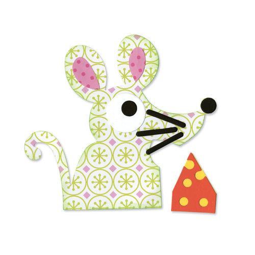 Sizzix - Happy Baby Collection - Bigz Die - Mouse and Cheese
