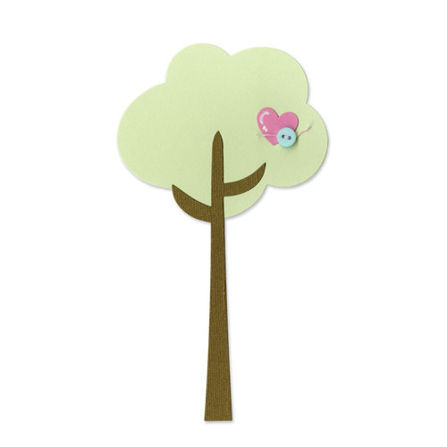 Sizzix - Happy Baby Collection - Bigz Die - Tree and Heart