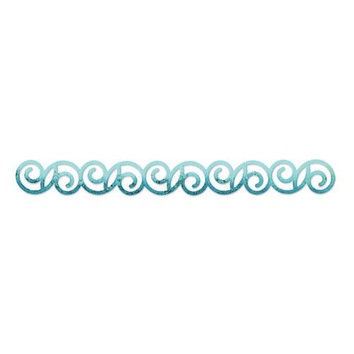 Sizzix - BasicGrey - Hello Luscious Collection - Sizzlits Decorative Strip Die - Curly 2